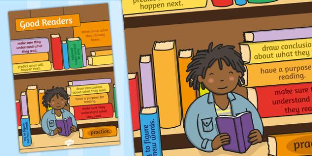 Good Readers Poster - good readers, reading, poster, display