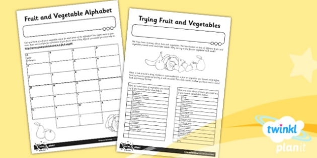D&T: Sensational Salads KS1 Unit Home Learning Tasks