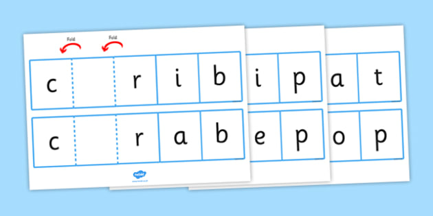 Phase 4 Ccvc Words Folding Strips - phase four, visual aids
