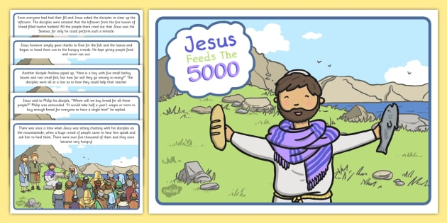 Jesus Feeds the 5000 Bible Story - christian, religion, stories