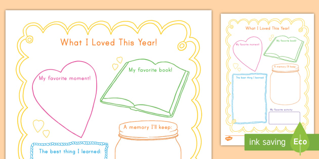 End of the School Year Memory Writing Frames - writing, frame