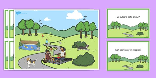 În parc - Planșă pentru dezvoltarea comunicării