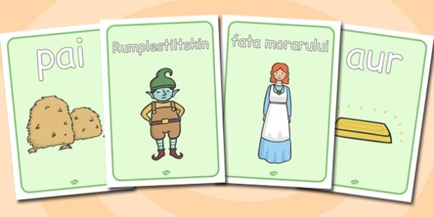 Rumpelstiltskin - Planșe cu imagini și cuvinte - Rumpelstiltskin, poveste, planșe, imagini, cuvinte, de afișat, ilustrații, materiale didactice, română, romana, material, material didactic