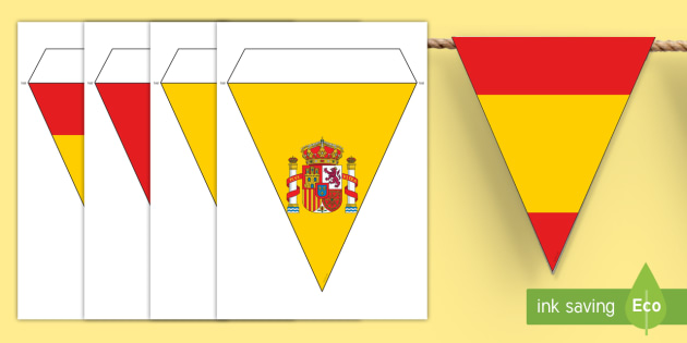 photograph regarding Printable Spanish Flag named Spanish Flag Bunting - spanish, flag, bunting, flag bunting