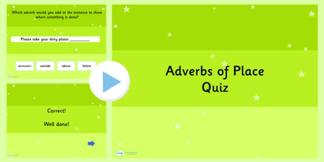 Using Adverbs of Place SPaG Grammar PowerPoint Quiz - SPaG