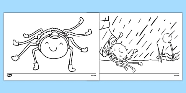 Incy Wincy Spider Colouring Sheets - incy wincy spider, colouring, colour, colouring sheet