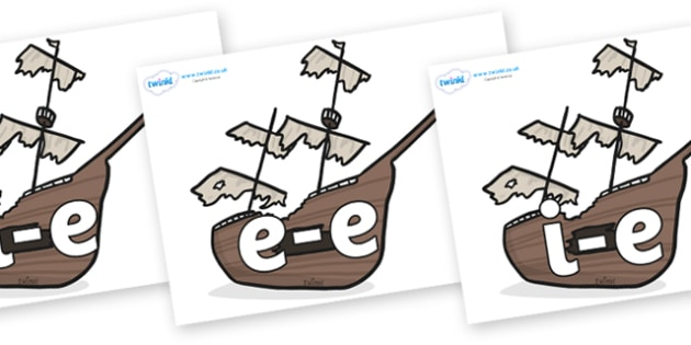 Modifying E Letters on Shipwrecks - Modifying E, letters, modify, Phase 5, Phase five, alternative spellings for phonemes, DfES letters and Sounds