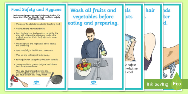 Food Safety and Hygiene Display Posters - Australia YR 3 and 4 Design