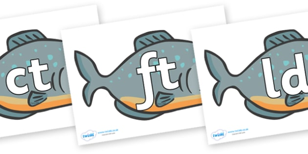 Final Letter Blends on Piranhas - Final Letters, final letter, letter blend, letter blends, consonant, consonants, digraph, trigraph, literacy, alphabet, letters, foundation stage literacy