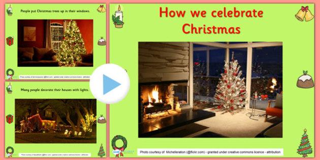 Celebrating Christmas Infomation PowerPoint - christmas, info