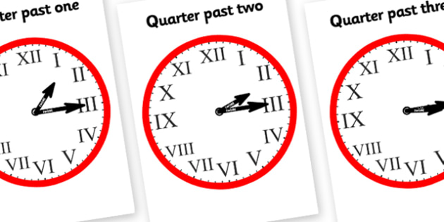 T-T-6903-Roman-Numerals-Clocks-Quarter-Past Clock Worksheets With Roman Numerals on face template, template printable, face tattoo, black white, face stencil, face clip art, face midnight, template hd,