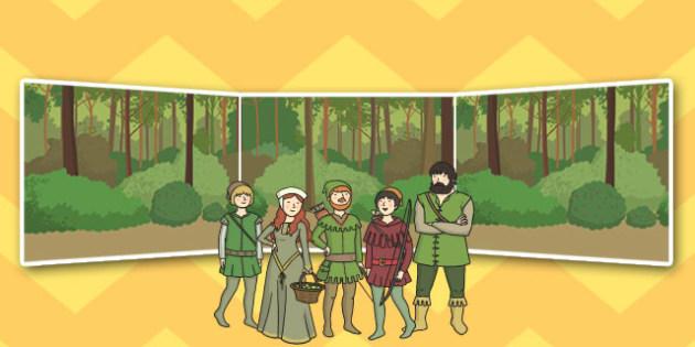 Robin Hood Small World Background - small, world, background