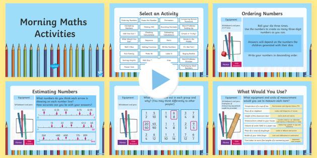 LKS2 Morning Maths Activities PowerPoint - KS2, Maths, starter