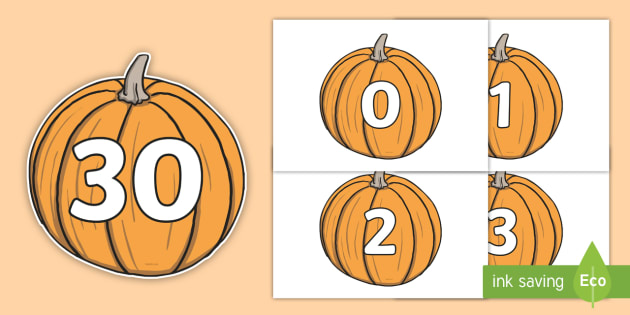 photo regarding Cake Walk Numbers Printable named Absolutely free! - Quantities 0-30 upon Pumpkins - Pumpkin, pumpkins