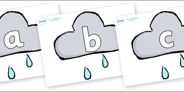 Phoneme Set on Weather Symbols (Rain) - Phoneme set, phonemes, phoneme, Letters and Sounds, DfES, display, Phase 1, Phase 2, Phase 3, Phase 5, Foundation, Literacy