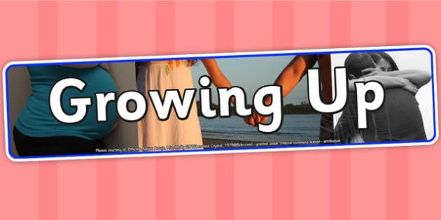 Growing Up Photo Display Banner - growing up, IPC display banner, IPC, growing up display banner, IPC display, growing up IPC banner