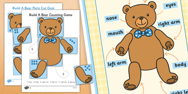 Build a Bear Counting Game Resource Pack - build a bear, game