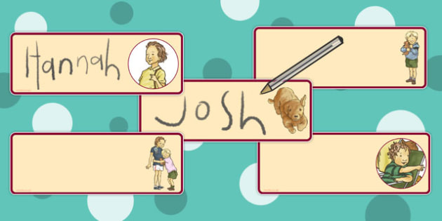 Editable Drawer Peg Name Labels to Support Teaching on Dogger - label, names, pegs