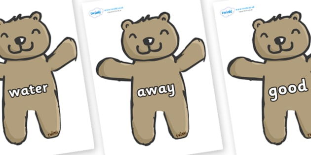 Next 200 Common Words on Teddy Bears - Next 200 Common Words on  - DfES Letters and Sounds, Letters and Sounds, Letters and sounds words, Common words, 200 common words