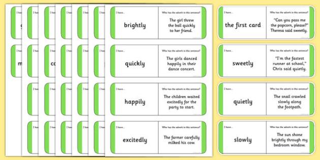 Australian Year 2 Adverbs Loop Cards - australia, Phonics ...