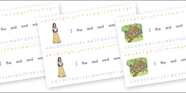 Alphabet Strips Fantasy - alphabet, a-z, fantasy, visual aid