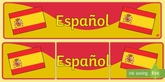 Modern Language Classroom Displays : Spanish display banner espanol mfl modern