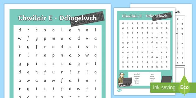 Chwilair E   Ddiogelwch Chwilair - E-Ddiogelwch, Cyfnod Sylfaen, Fframwaith Cymhwysedd digidol, Cyfrifiaduron, chwilair,Welsh, e-ddogelwch, eddiogelwch, diwrnod e-ddiogelwch, diwrnod eddiogelwch, diogelwch ar y we,  Internet Safety, internet safety,