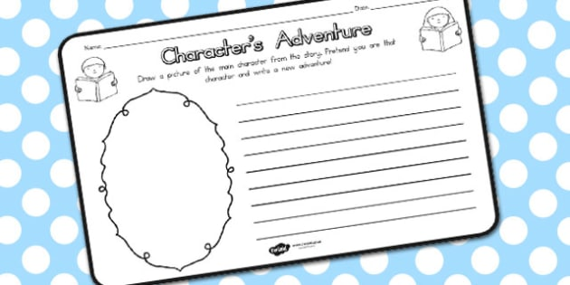 Character Adventure Comprehension Worksheet - sheets, characters