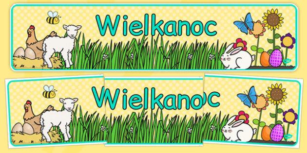Banner na gazetkę Wielkanoc po polsku - święta