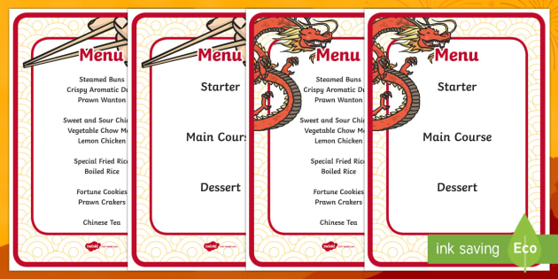 Chinese Restaurant Menus - chinese restaurant, menus, food, meal