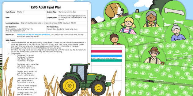 The Farmer's in His Den EYFS Adult Input Plan and Resource Pack