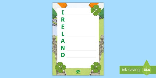 Ireland Acrostic Poem - Ireland Acrostic Poem - shamrock, st patrick's day, ireland, roi, eire, st patrick, irish, ireland,