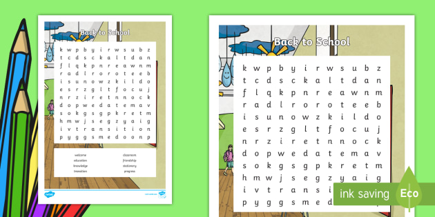image relating to Back to School Word Search Printable named KS2 Again toward Faculty Phrase Look - Again In the direction of Faculty Wordsearch