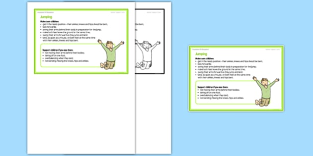 Jumping Teacher Support Card - EYFS, PE, Physical Development