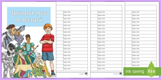 Jurnalul meu de lectură Broșură - citire, lectură, motivare, activitate citire, activități