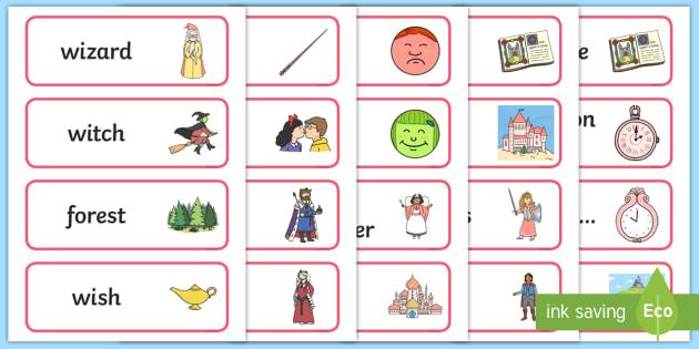 Australian Fairy Tale Word Cards - Australian Fairy Tale Word Cards - fairy tale, word, cards, fairy, tale,Australia, stories, key voca