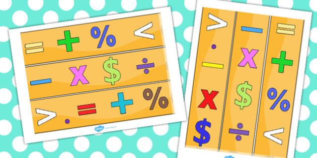 Maths Themed Display Borders USA - maths, display, borders, usa