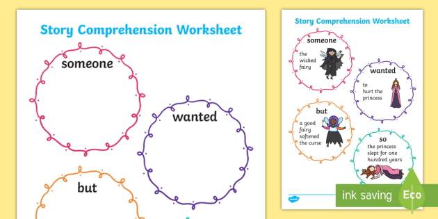 Story Comprehension Worksheet - story, stories, comprehension, story comprehension, worksheet, comprehension worksheet, stories worksheet, story sheets