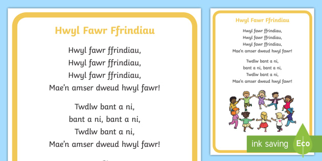 Goodbye Friends Song Lyrics Welsh - Welsh Second Language Songs and Rhymes, Welsh songs, School Routine, Goodbye Song, Goodbye Song Wels