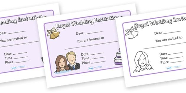 Design a Royal Wedding Invitation - Royal Wedding, The Royal Wedding, fine motor skills, colouring, designing, activity, Prince William, Kate Middleton, The Royal Wedding, April 29th, Queen, Prince philip, marriage