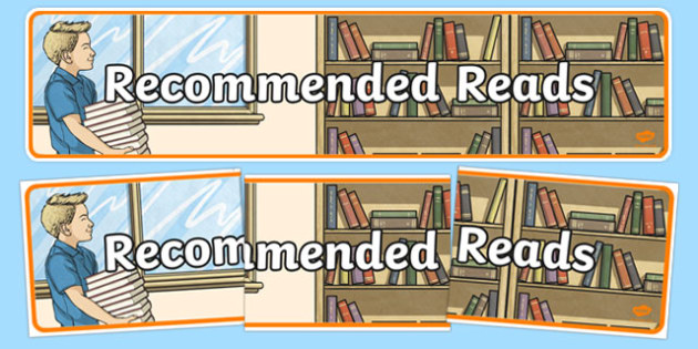 Recommended Reads Display Banner - banners, reading, displays