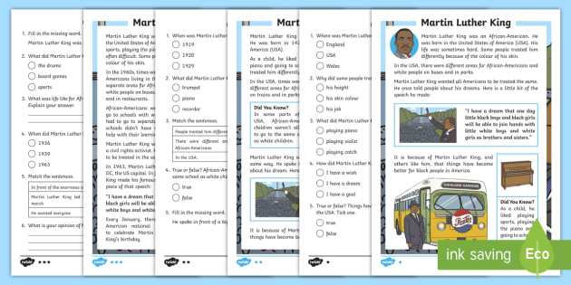 Martin Luther King - KS2 Resources