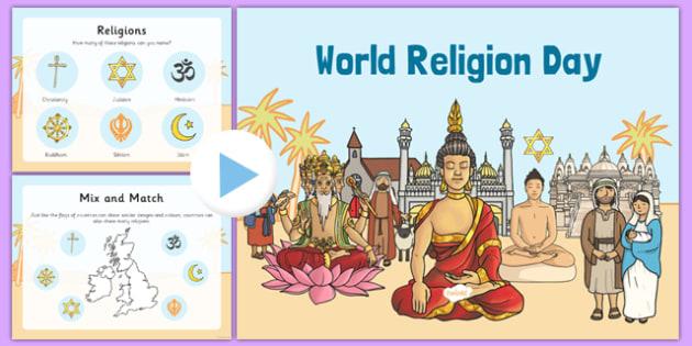World Religion Day Assembly - world religion day, presentation, script, pack, assembly