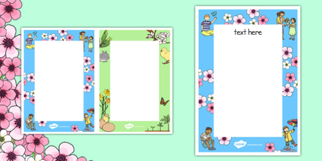 Spring Themed Editable Notes - spring, season, note, spring notes