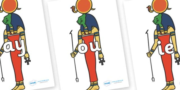 Phase 5 Phonemes on Egyptian God - Phonemes, phoneme, Phase 5, Phase five, Foundation, Literacy, Letters and Sounds, DfES, display