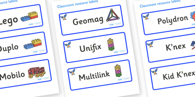 Starling Themed Editable Construction Area Resource Labels - Themed Construction resource labels, Label template, Resource Label, Name Labels, Editable Labels, Drawer Labels, KS1 Labels, Foundation Labels, Foundation Stage Labels