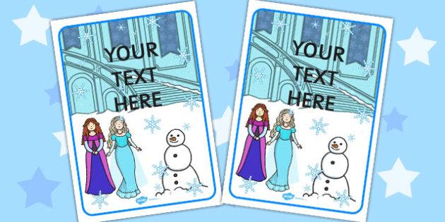 Winter Fairytale Editable Display Poster - frozen, display poster