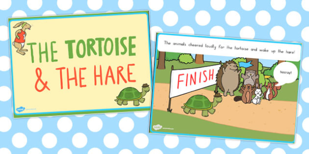 The Tortoise and the Hare PowerPoint - powerpoints, stories