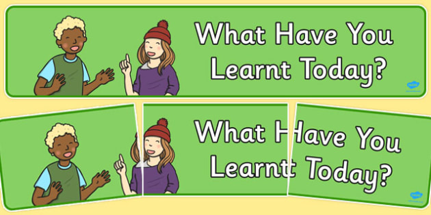 What Have You Learnt Today? Display Banner - display banner, display, what, learnt, today, banner