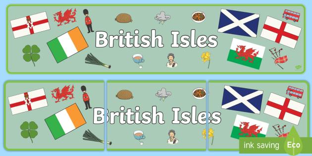 British Isles Display Banner - display, banner, british, isles
